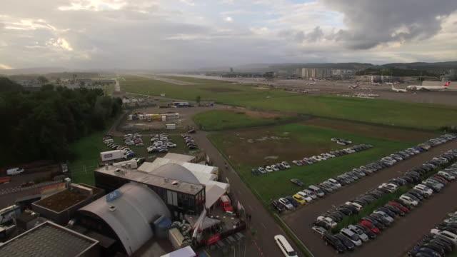 Drone Shot of Zurich Airport