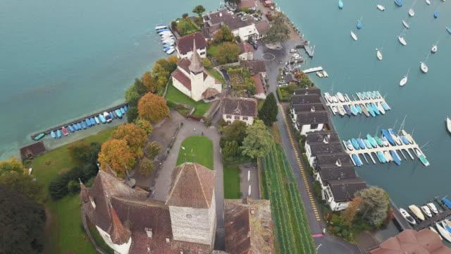 Drone video of Brienz, Switzerland