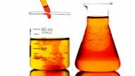 Dropping red liquid into Beaker