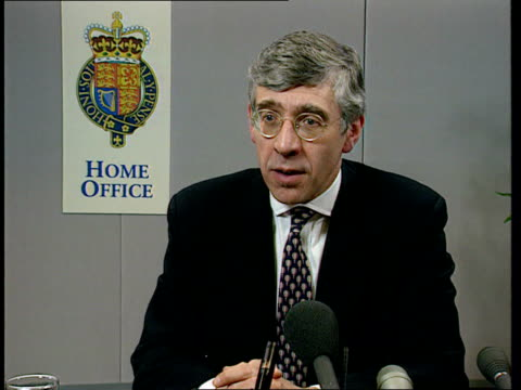 Cabinet Minister's Son ITN London Home Office Int Jack Straw MP intvw Never occurred to me / I take responsibility for my son/ he and I went to local...