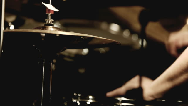 Drum player in a live show