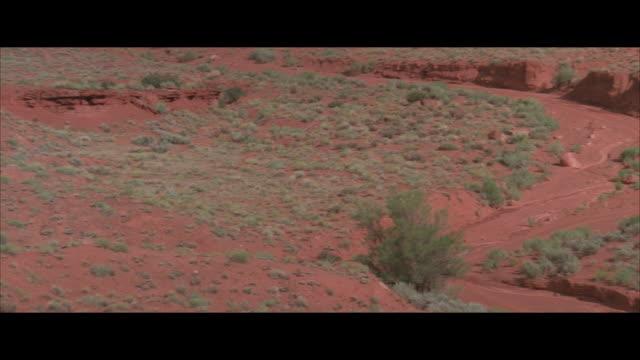 MS, PAN, Dry riverbed in desert