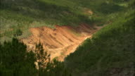 WS HA Dry riverbed in valley between two green hills, Lijiang, Yunnan, China
