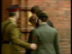 Dryland murder case GERMANY Soltau GV HQ of First Armoured Brigade MS Christine Dryland getting out of car and inside PAN RL MS Major Anthony Dryland...