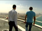 Dubai 27 Feb Roger Federer and Novak Djokovic take part in a special photo shoot at the helipad of the luxuxry hotel Burg Al Arab and other...