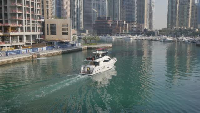 Dubai Metro tram and Sheikh Zayed Road, Dubai Marina, Dubai, United Arab Emirates, Middle East, Asia