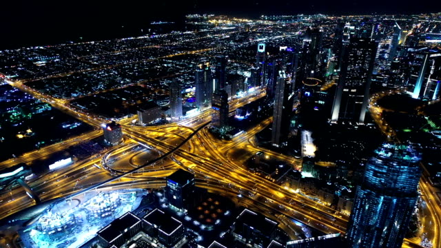 Panorama urbain de duba de nuit film vid o getty images for Exterieur nuit film