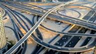 Dubai UAE Sheikh Zayed Road Intersection Metro Rail city