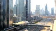 Dubai UAE Sheikh Zayed Road traffic skyscraper Burj Kalifa