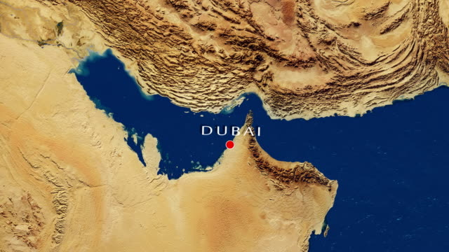 Dubai - United Arab Emirates Zoom In From Space