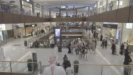Dubai_4k_mall_open_shopping_escalator_people_sheik_