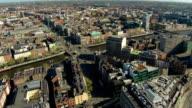 Dublin aerial video of city center