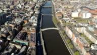 Dublino aerial video di Fiume liffey
