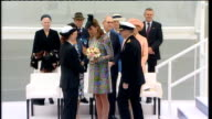 Duchess of Cambridge launches new cruise ship 'Royal Princess' Naming ceremony Ticker tape rains down as the Duchess down steps presented with...