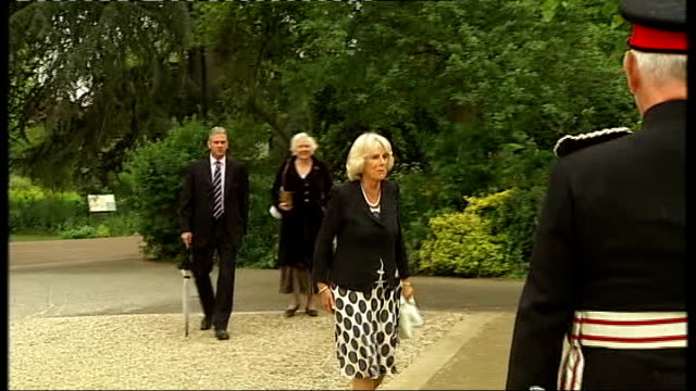 Duchess of Cornwall opens Myddelton House Gardens at Lee Valley Park ENGLAND Middlesex Enfield EXT Camilla Duchess of Cornwall arriving Camilla...