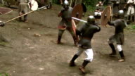 duel between two old times warriors