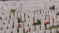 Duke and Duchess of Cambridge attend Battle of Passchendaele service Passendale Tyne Cot Various shots Tyne Cot Cemetery