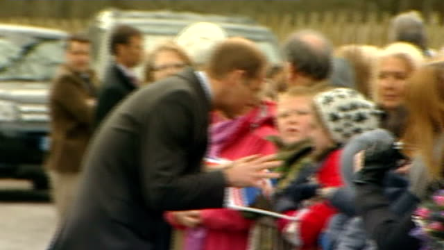 Duke and Duchess of Cambridge join Prince Charles to open outdoor centre SCOTLAND Ayrshire Cumnock Dumfries House EXT Cars arriving and Prince...
