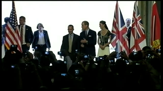 Duke and Duchess of Cambridge three day visit William meets Obama / makes speech LIB Sony Pictures Studio INT Prince William and Catherine arriving...