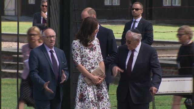 Duke and Duchess of Cambridge tour Stutthof Concentration Camp POLAND Gdansk Sztutowo Stutthof Concentration Camp EXT Prince William Duke of...