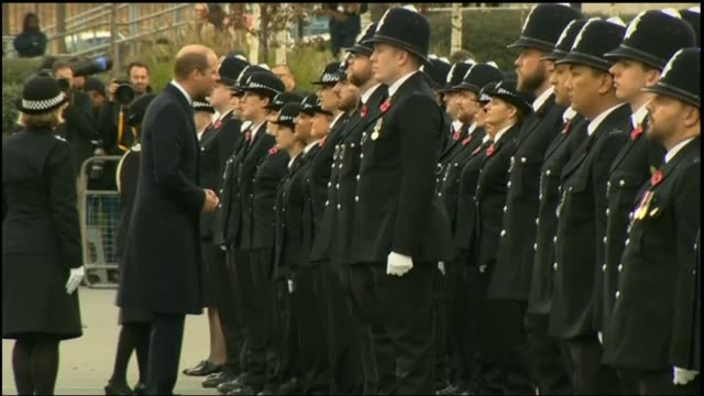 Duke of Cambridge attends Metropolitan Police passing out parade at Hendon England London Hendon Police College EXT **Music heard SOT** Prince...