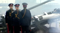 Duke of Edinburgh's 90th birthday 62 Gun Salute at Tower of London More of artillery 62 gun salute firing SOT