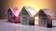 Dummy house of indian banknotes