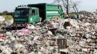 Dumping garbage Garbage falling