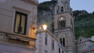 Duomo di Amalfi and Duomo Piazza at dusk, Amalfi, Costiera Amalfitana (Amalfi Coast), UNESCO World Heritage Site, Campania, Italy, Europe