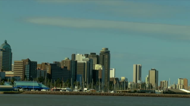 WS PAN Durban harbor with city in background / Durban/ South Africa