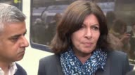 During a meeting with Londons new mayor Sadiq Khan Paris mayor Anne Hidalgo says US Republican presidential nominee Donald Trump is so stupid