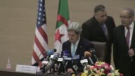 During a press conference in Algiers US Secretary of State John Kerry Thursday demanded action from recalcitrant Israeli and Palestinian leaders...