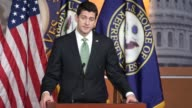 During a weekly press conference House Speaker Paul Ryan of Wisconsin tells a reporter asking about the ticket items such as tax reform that there is...