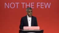 During his Labour conference speech Sadiq Khan hits at Theresa May saying that she should be 'utterly ashamed' of her law and order record and leads...