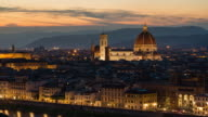 Dusk to Night Time Lapse at Florence City, Florence, Italy