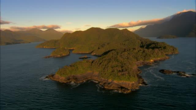 LOW AERIAL, Dusky Sound, Fiordland National Park, New Zealand