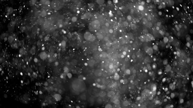 Dust Particles shot on black