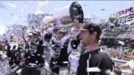 Dustin Brown and Jonathan Quick Hold Stanley Cup