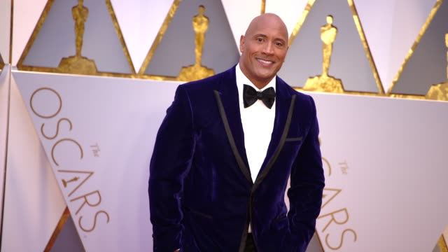Dwayne Johnson at 89th Annual Academy Awards Arrivals at Hollywood Highland Center on February 26 2017 in Hollywood California 4K