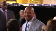 Dwayne Johnson greets fans at the Furious 7 Premiere in Hollywood in Celebrity Sightings in Los Angeles