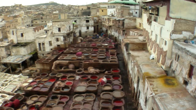 WS, HA, PAN, Dyeing vats at tannery, Fez, Morocco