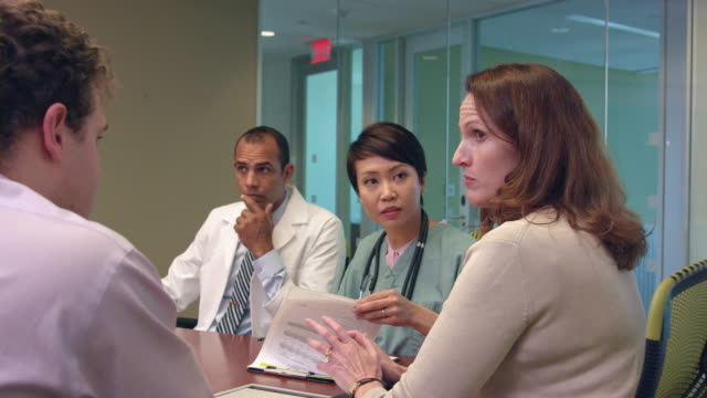 Dynamic Footage of Meeting of Medical Professionals - b