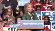 Eager supporters of Hillary Clinton gathered in Alexandria for the democratic presidential candidates campaign rally on Friday the day after a...