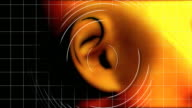 Ohr hören Wellen