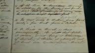 Earliest football rulebook on display at Sotheby's ENGLAND London Sotheby's INT Various close shots of Sheffield FC book of rules on display at...