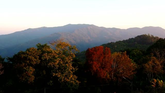 Early morning mountain sunrise