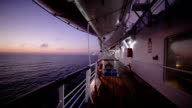 Early morning on the ship deck