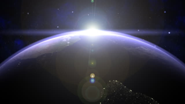 Earth 02 Sun rise around the Equator