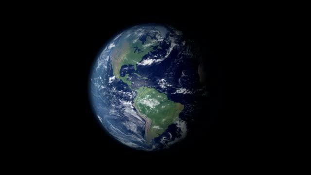 Terra Rotazione 360 gradi centrata e zoom in Islanda