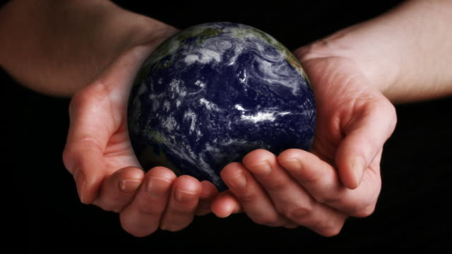 Earth in Hands (Loopable) HD